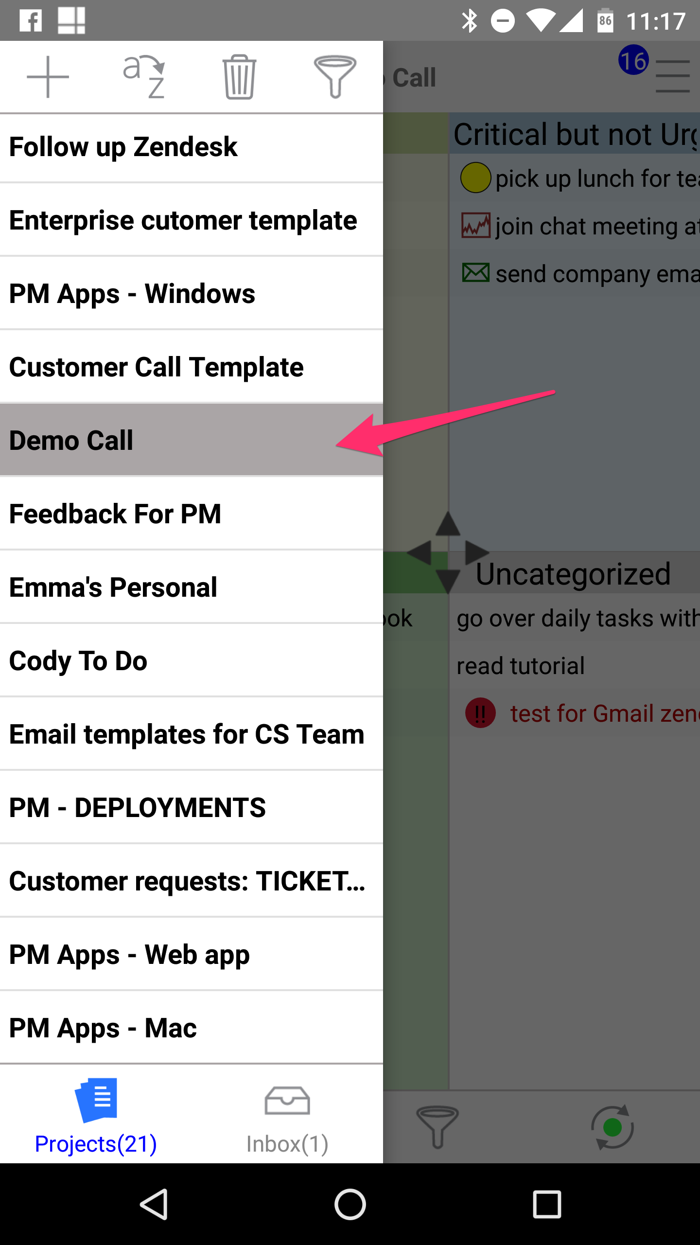 How Do I Add/Delete Project Tags In Android? - Priority Matrix Help ...