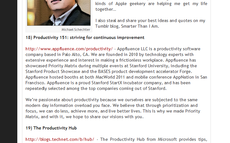 Rated one of the Top Productivity Blogs of 2012!