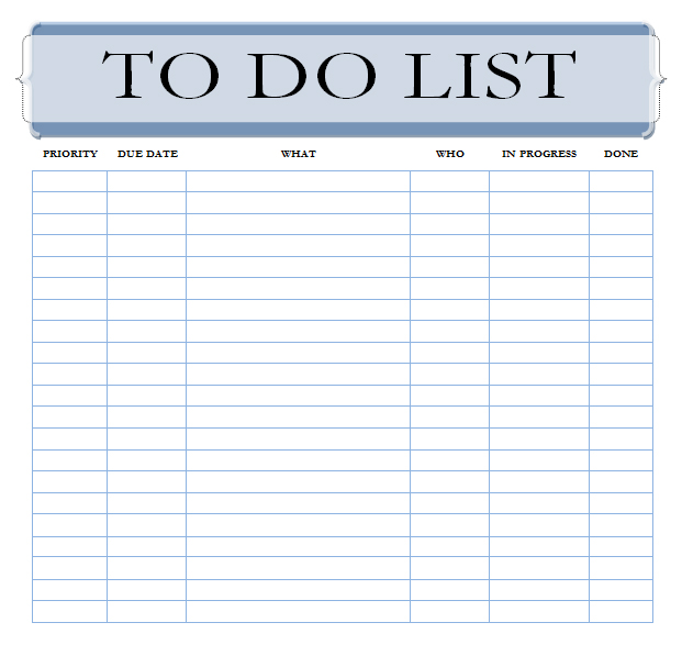 priorities list template