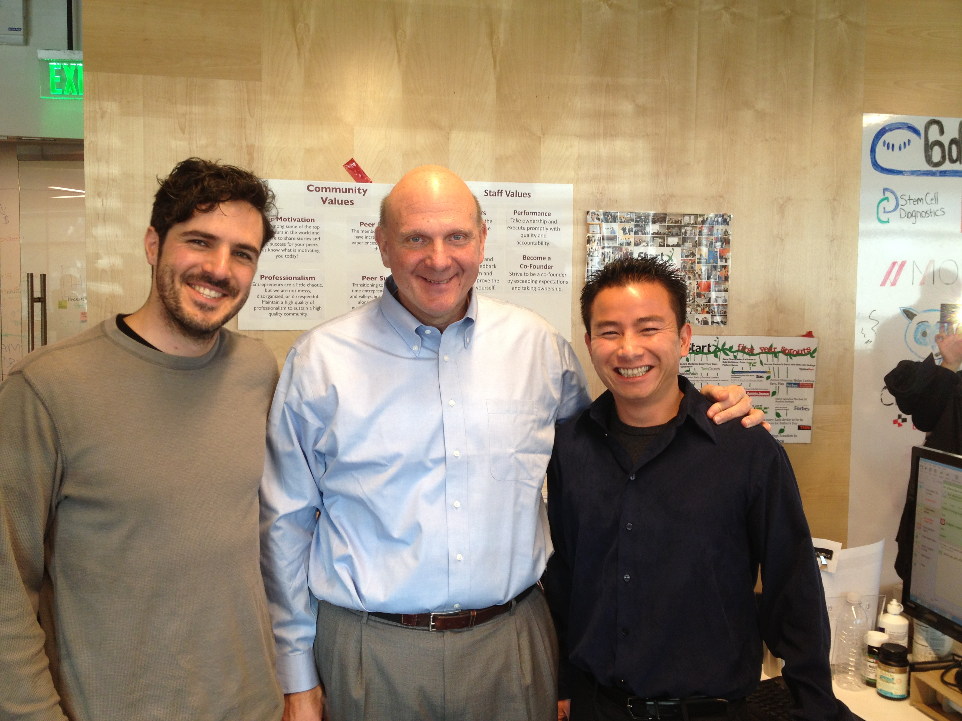 Steve Ballmer, CEO of Microsoft, visits Appfluence and StartX