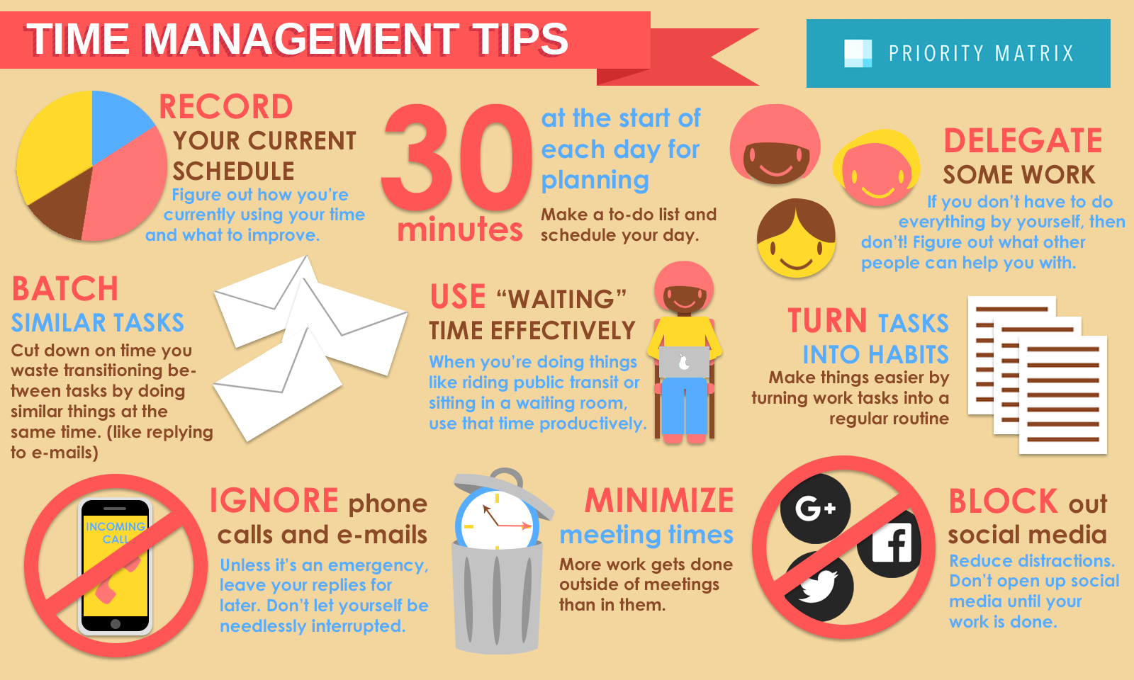Image result for Time Management Tips And Tricks For Busy People infographics