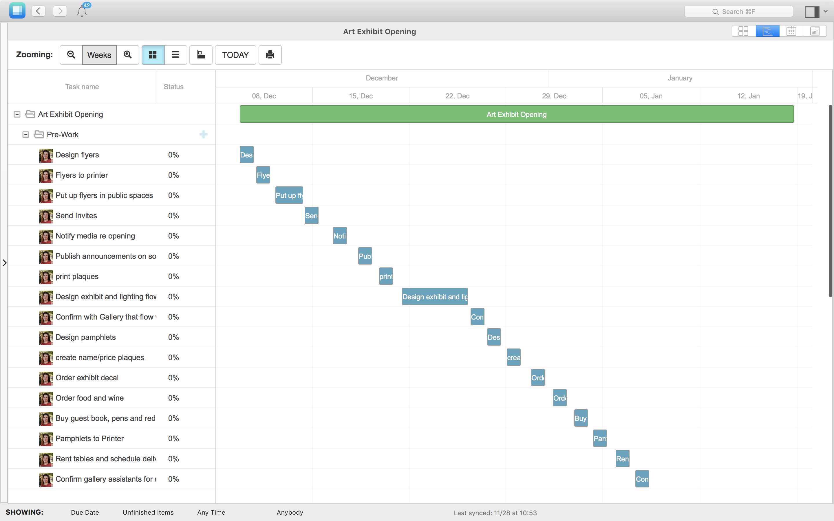 Managing Tight Deadlines with the Priority Matrix Gantt Chart by appfluence.com/productivity