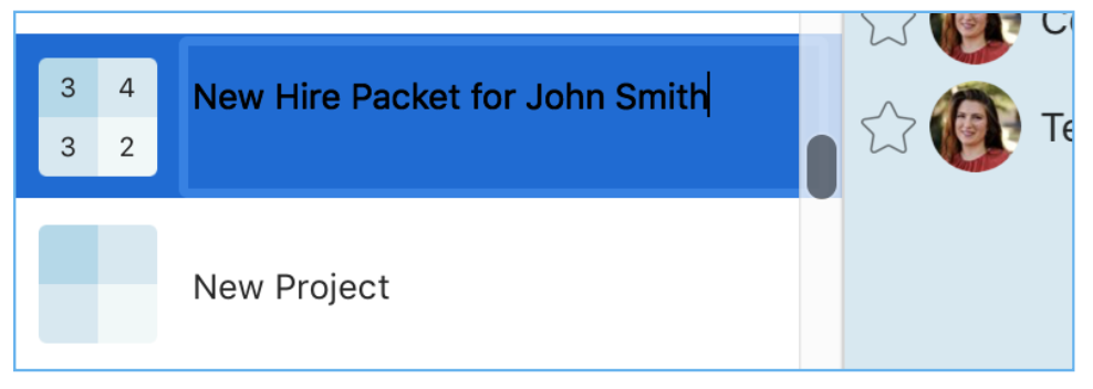 Creating A New Hire Packet In Priority Matrix